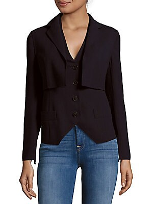 Button-Front Popover Jacket