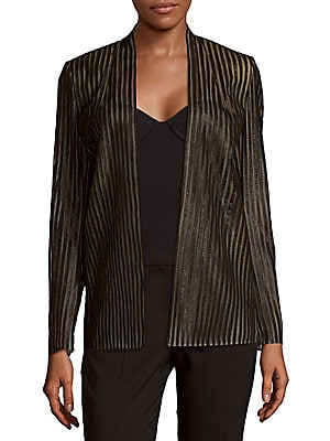 Silvester Striped Open-Front Jacket