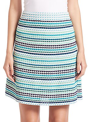 Triangle-Striped A-Line Skirt