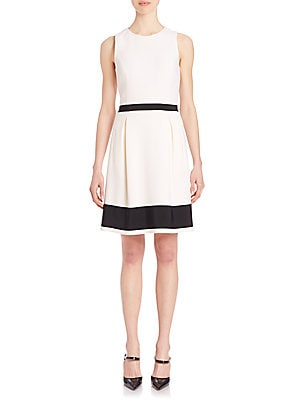 Jackie Grosgrain-Trim Dress