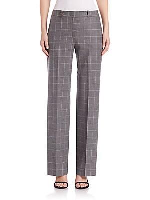 Virgin Wool Windowpane Trousers