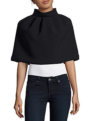 Solid Cropped Capelet
