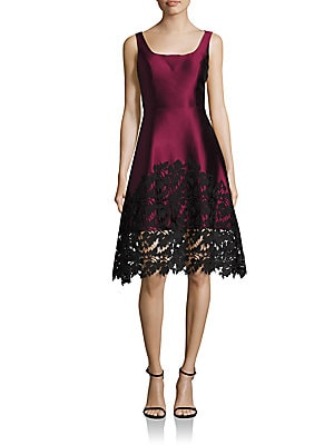 Floral Lace Trimmed Dress