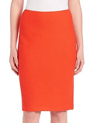 Textured Straight Skirt