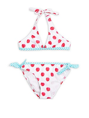 Little Girl's Two-Piece Printed Bikini Set