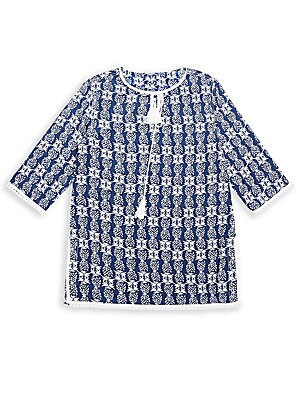 Girl's Tasseled Pineapple-Print Tunic