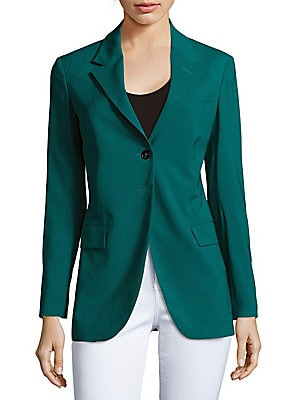 Intelate Solid Wool-Blend Jacket