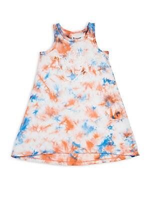 Little Girl's Printed Tie-Dye Dress