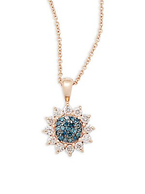 Click here for Diamond & 14 Rose Gold Necklace prices