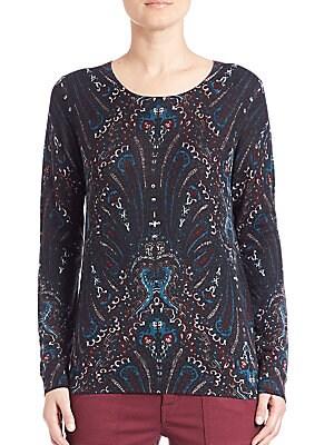 Feronia Paisley Print Cashmere Sweater