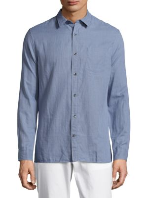VINCE Double Weave Melrose Shirt