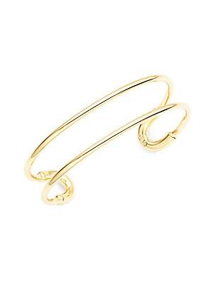 Mini Cortina 14K Gold-Plated Cuff Bracelet