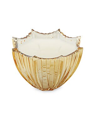 Glowing Amber Scallop Candle