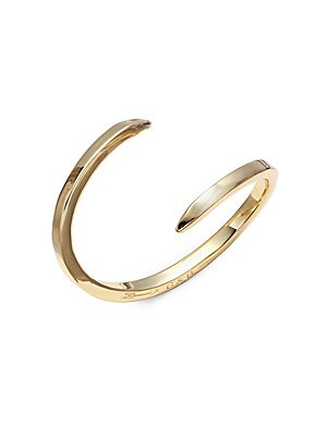 By Pass 14K Gold-Plated Open Bangle Bracelet