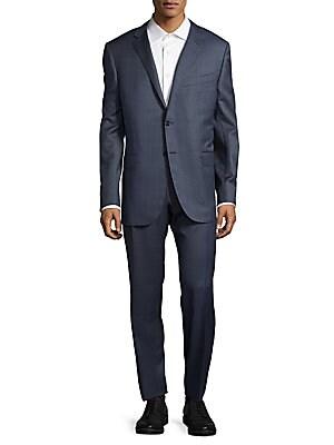 Windowpane Italian Wool Suit