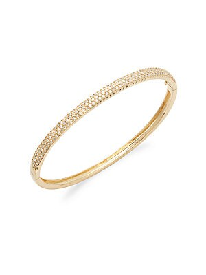 Click here for Diamond & 14K Yellow Gold Bangle Bracelet prices