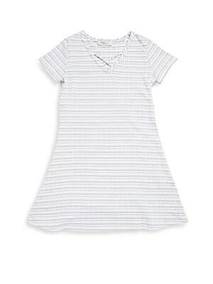 Girl's Short-Sleeve Cotton-Blend Dress