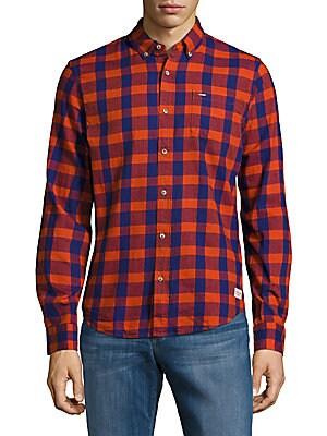 Button-Down Cotton Check Shirt