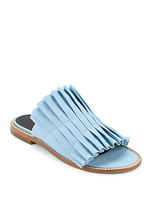 Jill Pleated Slip-On Sandals