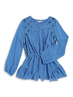 Girl's Jasmine Long-Sleeve Romper