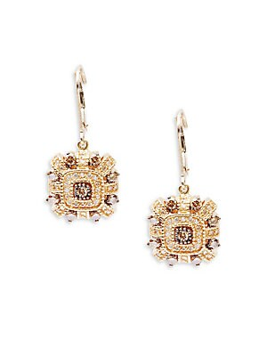Click here for Diamond & 14K Yellow Gold Earrings prices