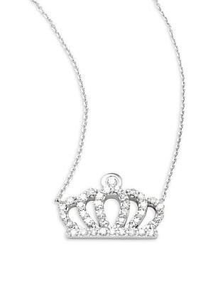 Click here for Diamond & 14K White Gold Crown Pendant Necklace prices
