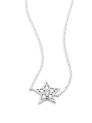 Click here for Diamond & 14K White Gold Star Pendant Necklace prices