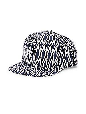 Diamond Flat Brim Baseball Cap