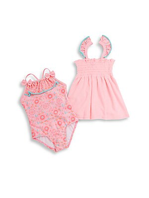 Little Girl's Tribal Cutie Two-Piece Swimsuit & Coverup Set
