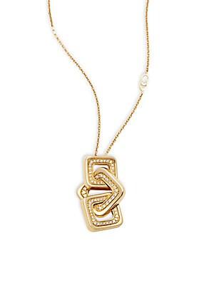 Link Diana Diamond & 18K Yellow Gold Pendant Necklace