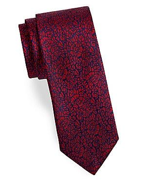 COLLECTION Textured Floral Silk Tie