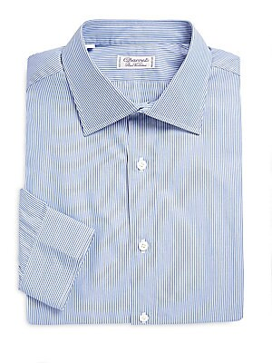 Striped Long-Sleeve Dress Shirt