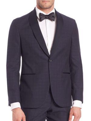 Modern Wool-Blend Tuxedo Jacket Saks Fifth Avenue Collection