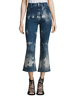 Tie-Dye High-Rise Kick Flare Jeans