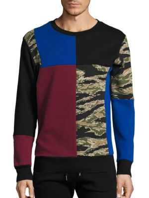 Skull Camo Patch Sweatshirt Diesel