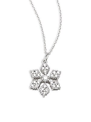 Click here for Diamond & 14K White Gold Snowflake Pendant Necklac... prices