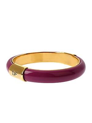 Love Is Life Goldtone and Beet Bracelet