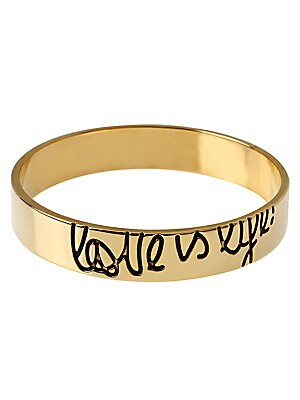 Love Is Life Mille Goldtone Bracelet