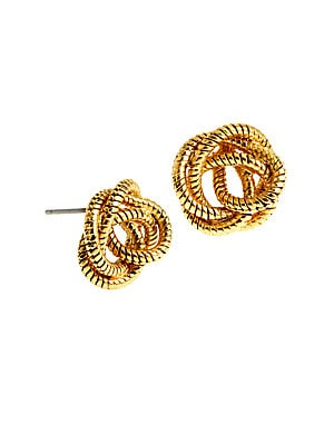 Knotted Snake Chain Stud Earrings
