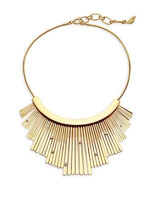 Embellished Fan Statement Necklace
