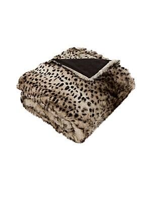 Faux Leopardis Fur Throw