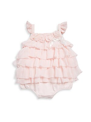 Baby's Cotton-Blend Ruffled Romper