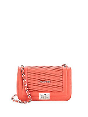 Beatriz Perforated Leather Crossbody Bag
