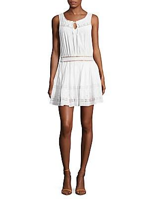 Inez Crochet Panel Dress