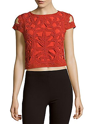 Pollie Embroidered Cropped Top