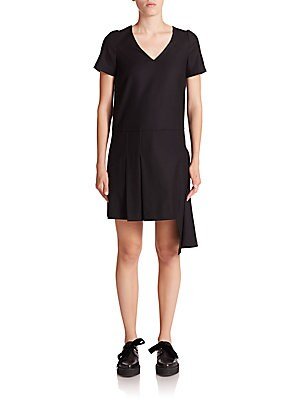 marc jacobs female asymmetrical stretchwool shift dress