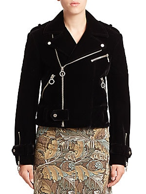 marc jacobs female semona velvet biker jacket