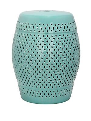 Diamond Lattice Ceramic Stool