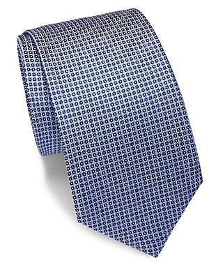Silk Geometric-Patterned Tie