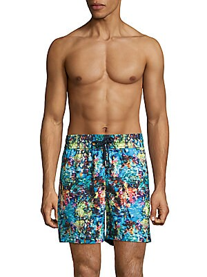 Abstract-Print Swim Shorts